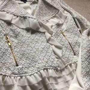 NWT white and gold blazer size M